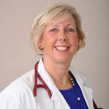 Judith F Shea MD web1 - Dr. Shea enjoys time with her students at Greenwich Hospital