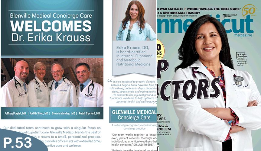 p53AD 1 - Welcoming Dr. Krauss...featured in Connecticut Magazine